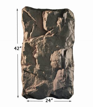 Taxidermy rock panels
